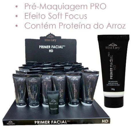 Primer Facial Pro HD Soft Focus Miss Lary ML508A - Kit com 36 Unid + Prov
