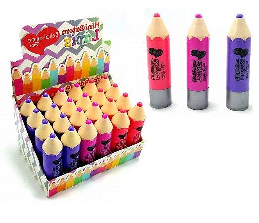 Mini Lápis Batom Bella Femme BF10018 - Kit com 6 unidades