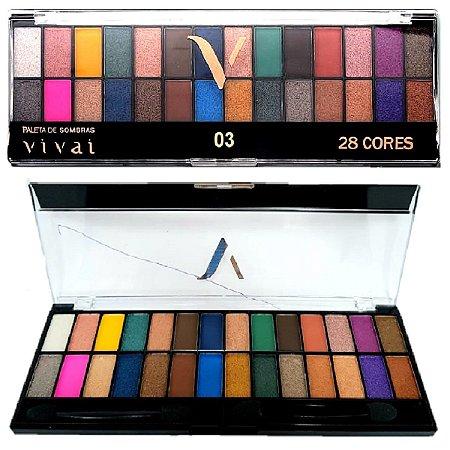 Vivai - Paleta de Sombras 28 Cores Alta Pigmentação 2198-3