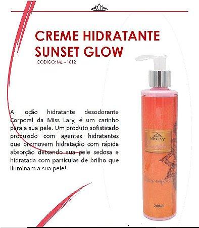 Creme Hidratante Iluminador Sunset Glow ML1012 - Kit com  4 Unidades