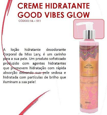CReme HIdratante com particulas de Brilho Good Vibes Glow ML1011 - Kit com 4 Unidades