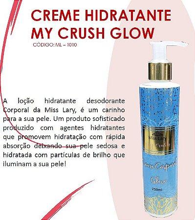 Creme HIdratante com Particulas de Brilho My Crush Glow ML1010