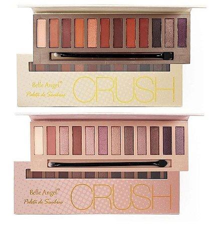 Paleta de Sombras com Espelho Crush Belle Angel T004 - kit com 12 Unidades ( 6 de cada )