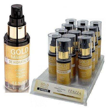 Fenzza - Máscara de Hidratação com Válvula Gold FZ37004 - Kit com 12 Unidades + Prov