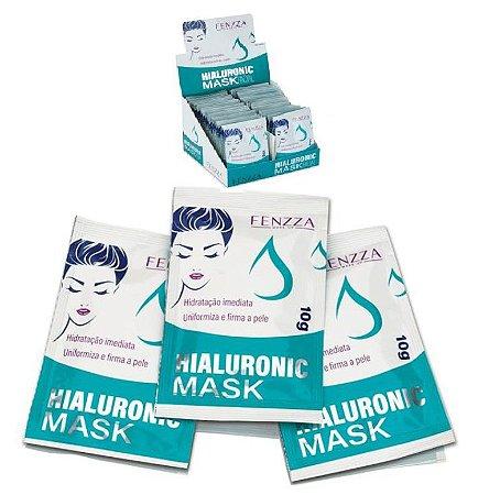 Máscara Facial Hialuronic Mask Sachê 10g Fenzza FZ38008 - kit com 50 Unidades