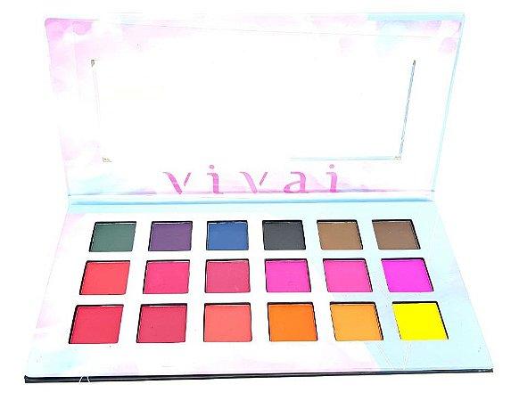 Paleta de Sombras Sweet Emotions Super Pigmentada Vivai 4008
