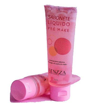 Sabonete Liquido Pré Maquiagem HIdratante Fenzza FZ5009 - Display com 24 Unidades