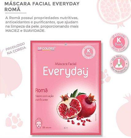 Máscara Facial Koreana SP Color Romã Maciez e Suavidade EV002 - Kit com 10 Unidades