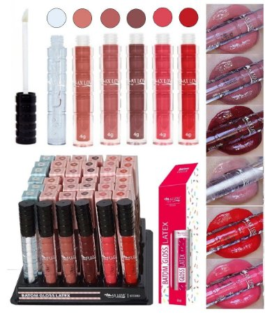 Gloss Latex Cores 7 a 12 - Kit com 36 Unidades + 6 Prov