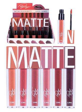 Batom Liquido Matte Super PLayboy HB97899 - Kit com 24 + Prov