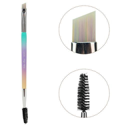 Pincel Dupo Delineador e Escova para Sobrancelhas Hello Mini EC07