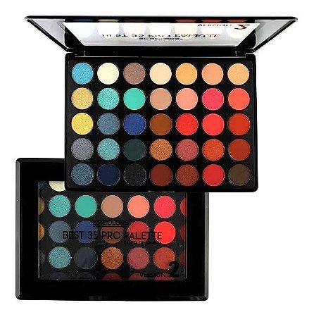 Paleta de Sombras Best 35 Versão 2 SP Color SP179 - Kit com 4 Unid