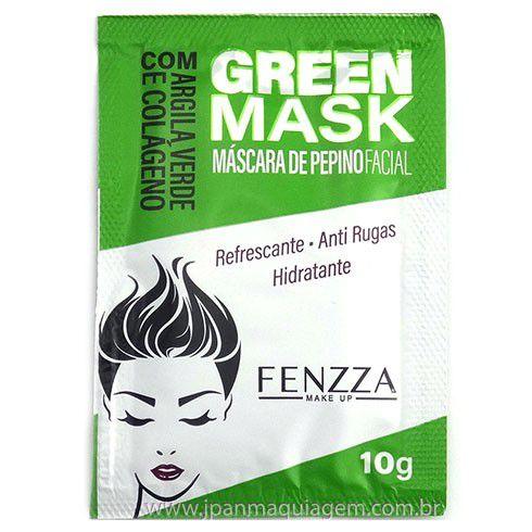 Máscara Facial Anti Rugas Pepino Green Mask Sachê 10g Fenzza FZ38001