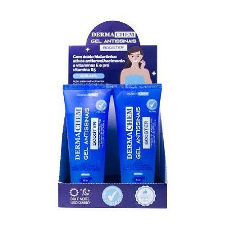 Gel Antissinais Booster Ácido Hialurônico Dermachem - Kit com 6 Unidades