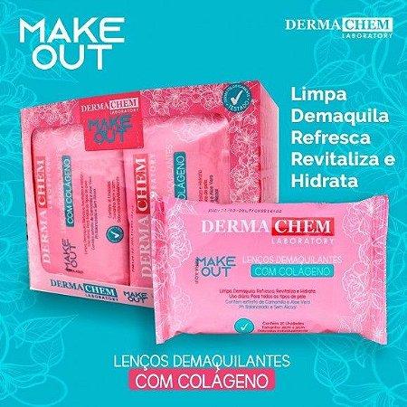 Lenço Demaquilante com Colágeno Make Out Dermachem – Box c/ 12 unid