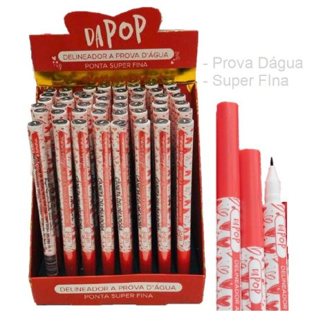 Caneta Delineadora Prova Dàgua Ponta fina Dapop HB98617 - DIsplay com 48 Unidades