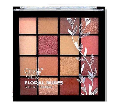 Paleta de Sombras Floral Nudes City Girl CG126 - Cor B