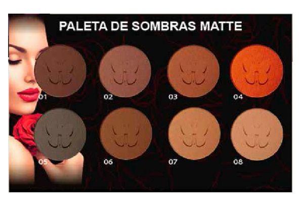 Paleta de Sombras Matte 8 Cores Nudes Ludurana M00045