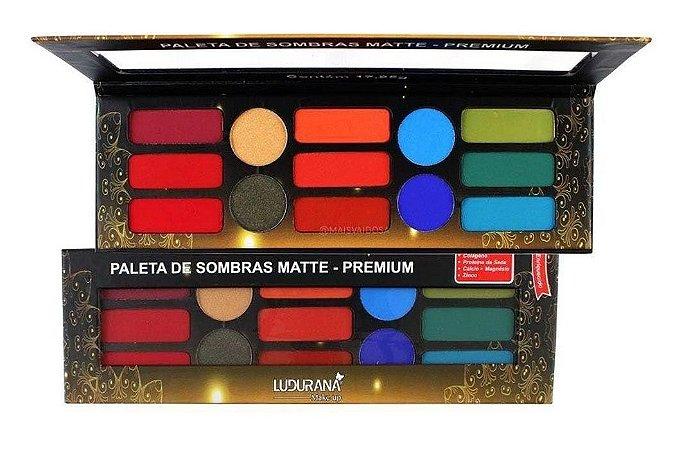 Paleta de Sombras Matte Premium 13 Cores Ludurana M00036 - Kit com 12 Unid