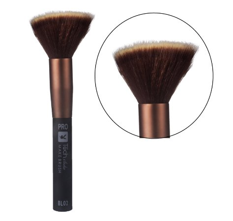 PIncel Duo Fiber para Pó e Blush Playboy HB94607 ( BL02 ) - Kit com 6 Unidades