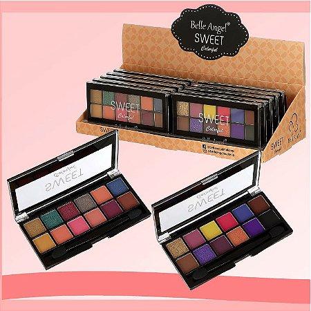 Paleta de Sombras Sweet Colorful T040 - Coleção 3 - Display C/12 Unidades