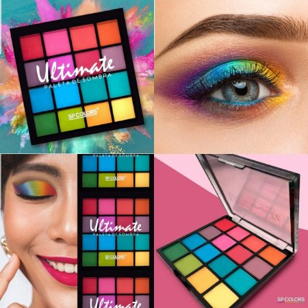 Paleta de Sombras Ultimate SP Colors SP119 - Display com 12 unidades