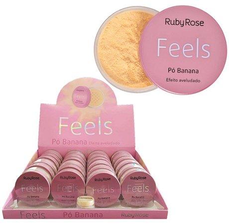Pó de Banana Feels Ruby Rose HB850 – Box c/ 24 unid