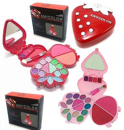 Kit Maquiagem Moranguinho Any Color 1213 - Kit com 12 Unidades ( Cores Sortidas )
