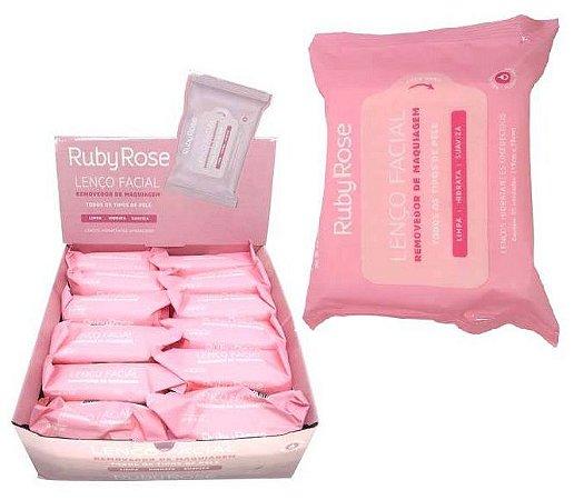 Novo Lenço Demaquilante Ruby Rose HB200 - DIsplay com 12 Unidades