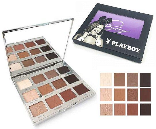 Paleta de Sombras Matte Nude PLayboy HB93048 - Kit com 12 Unidades