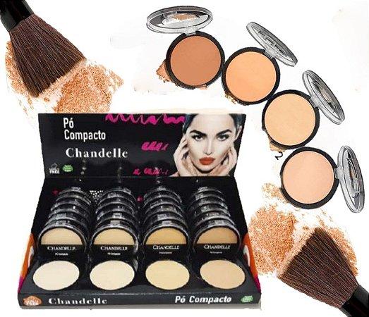 Chandelle - Pó Compacto- Kit com 4 Unidades