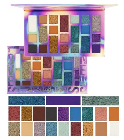 Paleta de sombra Ready For Ruby Rose HB1059 - Kit com 4 Unidades