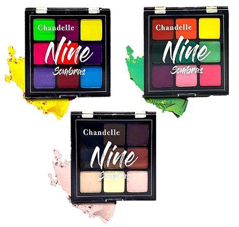 Paleta de Sombras Nine Chandelle - Kit com 3 Unidades
