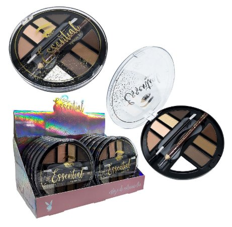 Estojo de Sombrancelha Eyebrow Kit Essential Playboy HB97776 - DIsplay com 12 Unidades