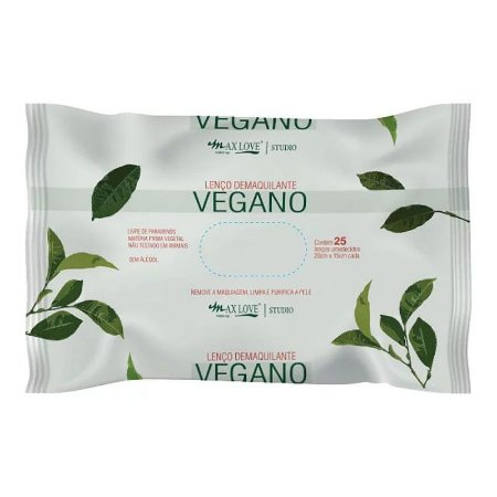 Max Love -  Lenço Demaquilante Vegano