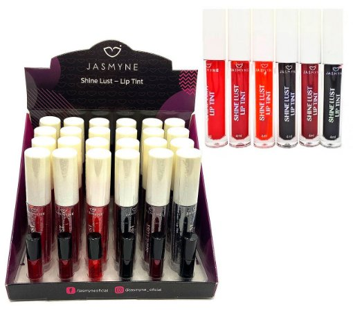 Jasmyne - Lip Tint Shine Lust  JS01029 -  24 Unidades + Amostras