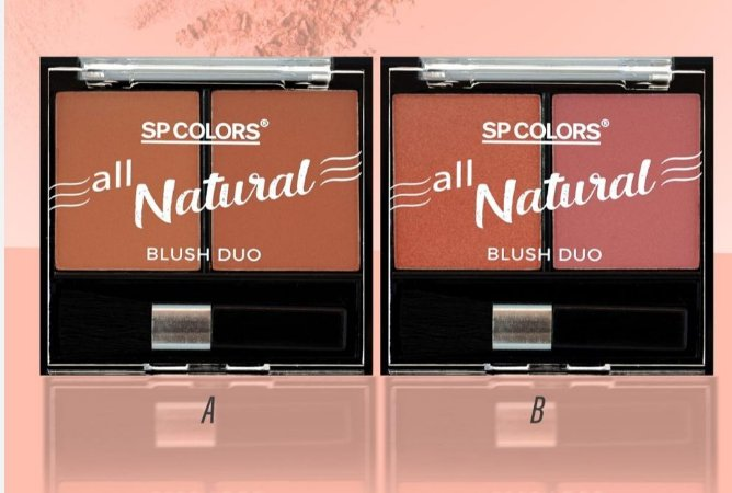 Blush Duo All Natural Sp Color SP145 - Display com 24 Unidades