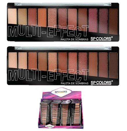 Paleta de Sombras Nude Multi-Effect SP Colors SP137 - Display com 24 Unidades