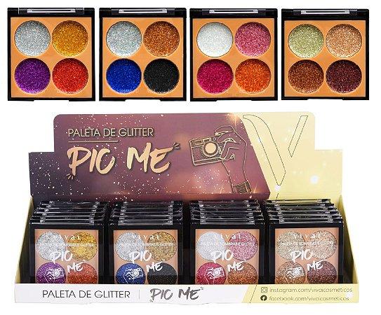 Paleta de Glitter Pic me Vivai 4027 - Display com 24 Unidades