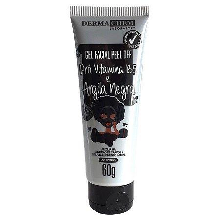 Gel Facial Peel Off Pró Vitamina B5 e Argila Negra Dermachem Laboratory