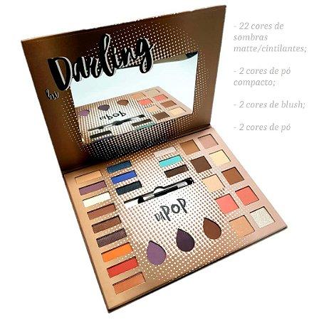 Estojo de Maquiagem Grande Hi Darling OMG Sombras Blush Iluminador e Pó Dapop HB97762