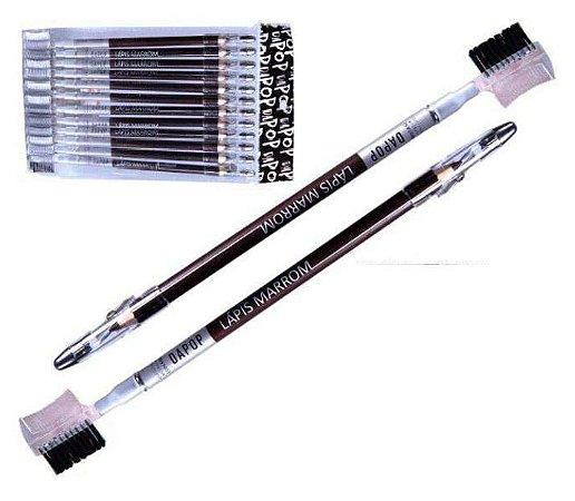 Lápis de Sobrancelha Universal com Pincel/Escova Dapop HB97453