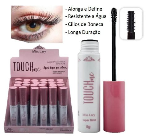 Rimel Mascara de Cilios Alonga e DefineTouch Miss Lary ML569 - Display com 24 unidades