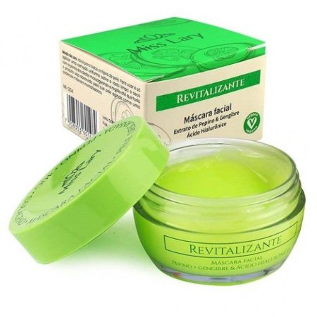 Máscara Facial Revitalizante Miss Lary ML204 - Display C/ 18Unid
