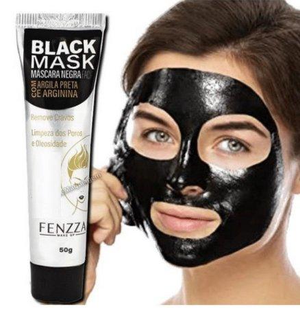 Fenzza - Máscara Facial Preta Removedora de Cravos Black Mask  FZ38020 Bisnaga