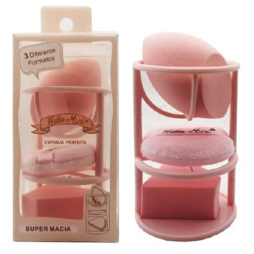 Hello Mini - Kit Esponja Perfeito 3 em 1 254-4 ( 12 Unidades )