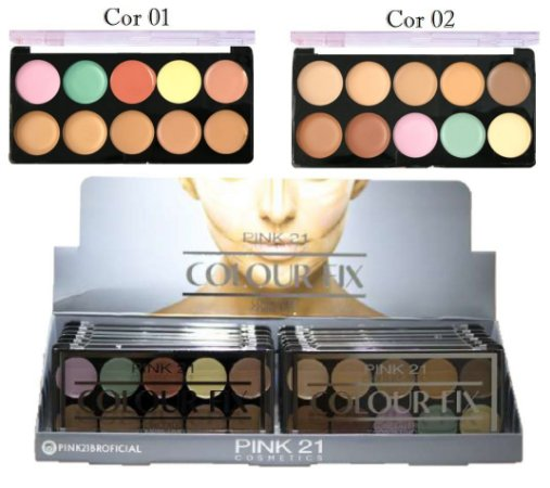 Paleta de Corretivo Colour Fix Pink 21 CS2782 - Display C/ 12 unid