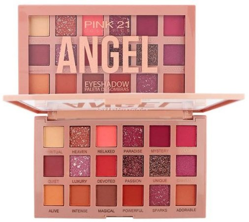 Paleta de Sombras Angel CS2729 Cor 01 - Kit C/ 6 Unid