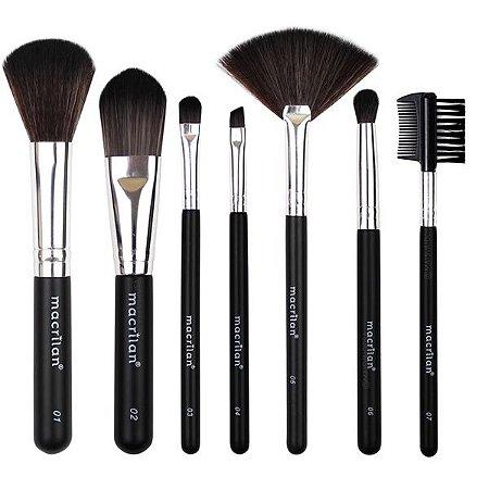 Kit 7 Pincéis Para Maquiagem Macrilan KP9-2A ( 6 Kits )