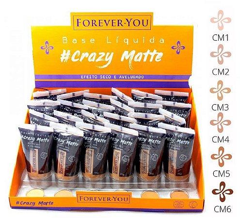 Base Líquida Matte Crazy Forever You FY010 - Display com 24 unidades e Prov
